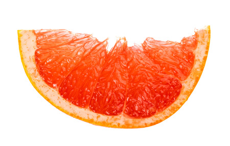 Slice of grapefruit isolated on white background Stock Photo