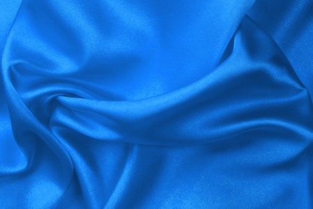 Blue silk fabric  photo