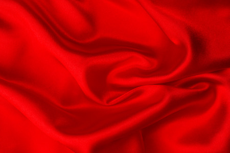 Red silk fabric  Stock Photo