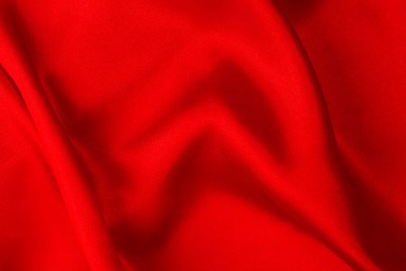 Red silk fabric  photo