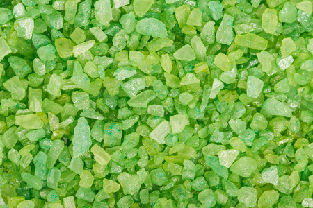 Green sea salt for bathing background Stock Photo