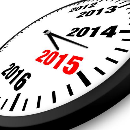 2015 New Year clock Stock Photo