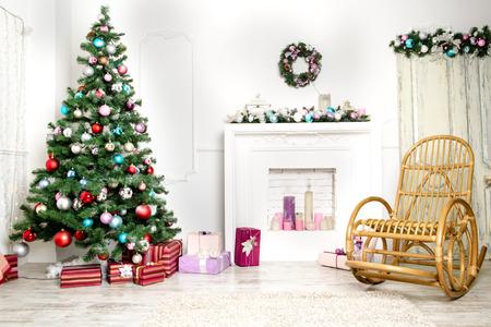 クリスマス リビング ルーム 写真素材