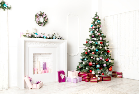 places: Christmas living room Stock Photo