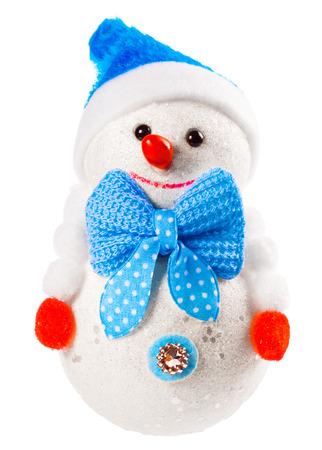 Fun snowman isolated on the white. photo