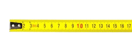 centimeters: Tape measure in centimeters Stock Photo