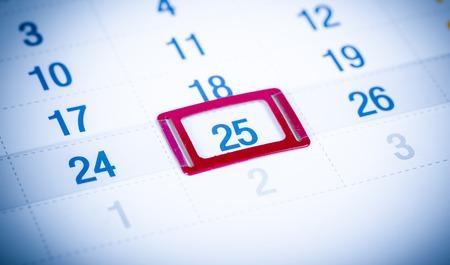 calendar page: Blue toned calendar page