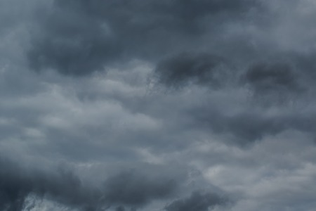 wind storm: Dark clouds before a thunder-storm