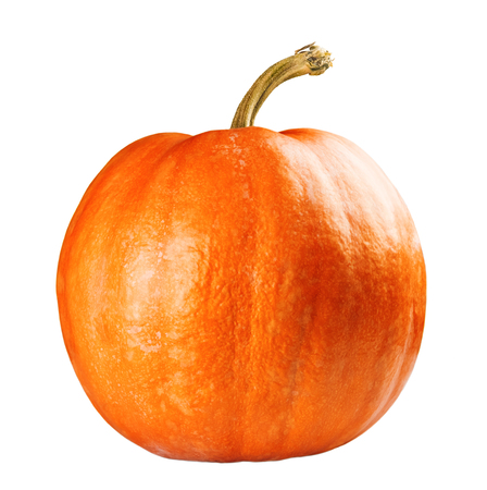 Fresh orange pumpkin isolated on white background Stock Photo