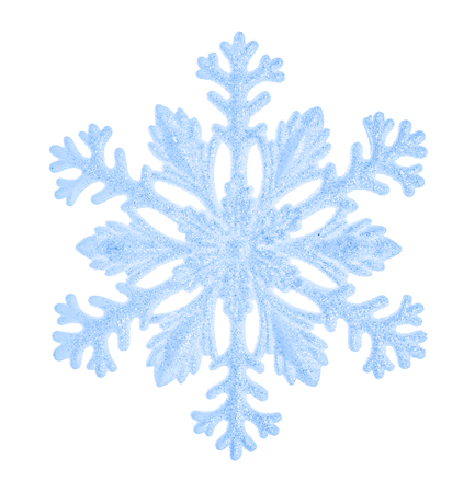 ice: Beautiful blue snowflake isolated on a white background. Element for design