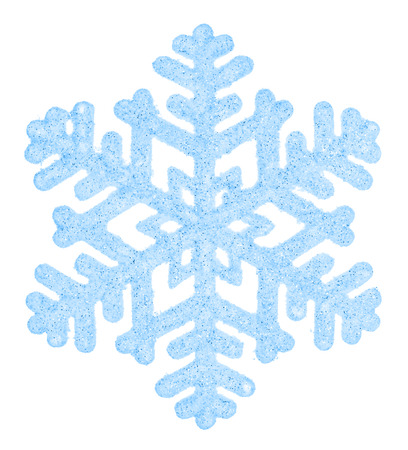 Mooie blauwe sneeuwvlok geïsoleerd op een witte achtergrond. Element voor ontwerp