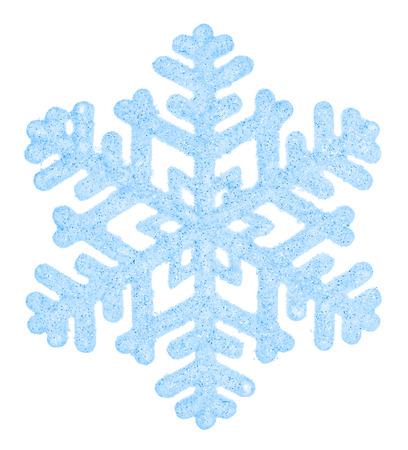 schneeflocke: Sch�ne blaue Schneeflocke isoliert auf wei�em Hintergrund. Element f�r Design Lizenzfreie Bilder