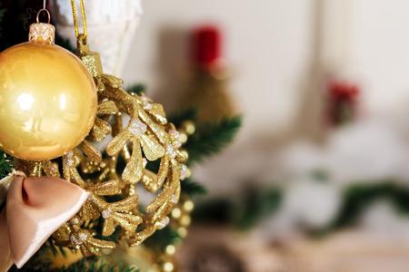 hearth and home: Christmas living room Stock Photo