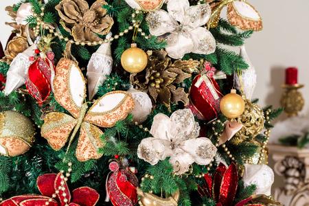 mantel: Christmas living room Stock Photo