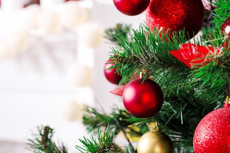 Christmas living room with Christmas Tree Standard-Bild