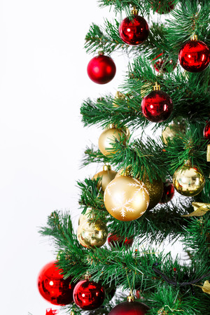 hearth and home: Decorated Christmas tree. Beautiful Christmas living room with Christmas tree