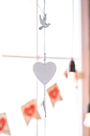 original idea: Beautiful background with the original heart for March 8, or Valentines day. Idea for Valentines