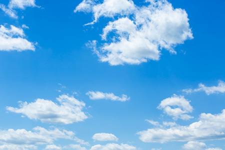 sky and clouds: Blue sky with clouds