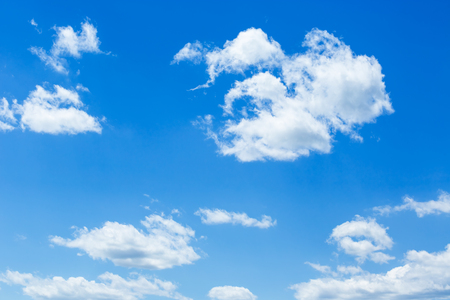 clouds sky: Blue sky with clouds