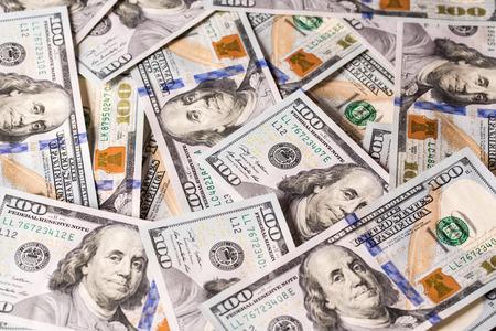 factura: Fondo con dinero americano cien billetes de un d?lar