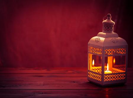 Beautiful background with a shining lantern Fanus.
