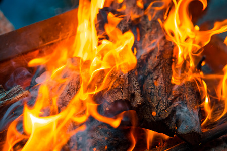 coals: Beautiful burning fire flame background and coals