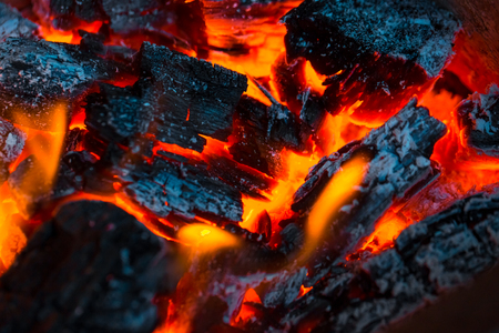 alight: Beautiful burning fire flame background and coals