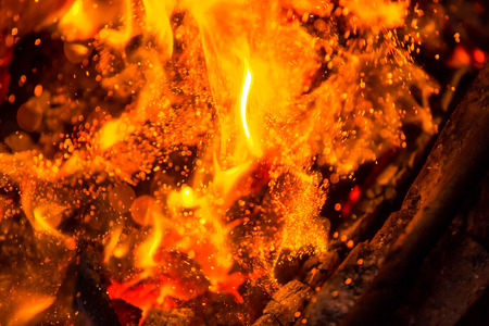 flame background: Beautiful burning fire flame background and coals