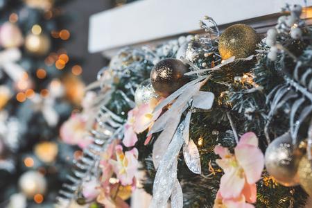 Christmas living room with Christmas Tree Stock Photo