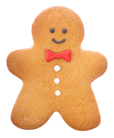 beautiful and delicious christmas ginger gingerbread man isolated on white background stock photo 67231441