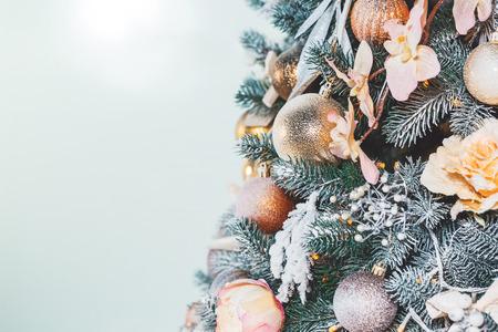 mantel: Christmas living room with Christmas tree