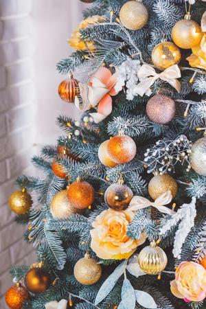 hearthside: Christmas living room with Christmas tree