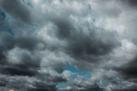 tempest: Dark clouds before a thunder-storm