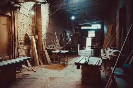 Craft Carpentry Workshop. Soft focus. Shallow DOF.
