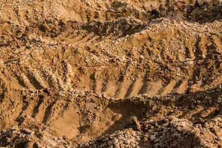 sand quarry: Clay and sand in the quarry. Beautiful unusual background similar to the surface of the planet Mars or the moon Stock Photo