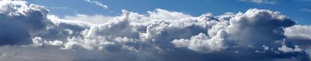 Beautiful dramatic sky panorama background Stock Photo