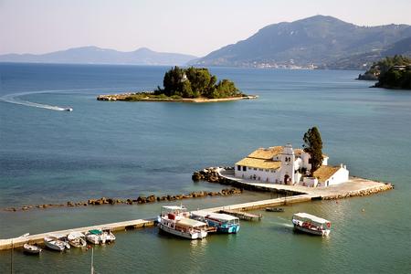 Pontikonisi Mouse Island Corfu, Greece