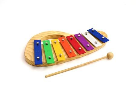 child xylophone on white background isolated