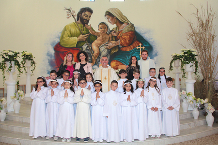 trepuzzi,Italy 05-06-2018 Catholic celebration of the first communion in southern Italy