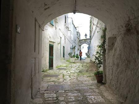 alleys in the historic center of Ostuni, Puglia, Italy