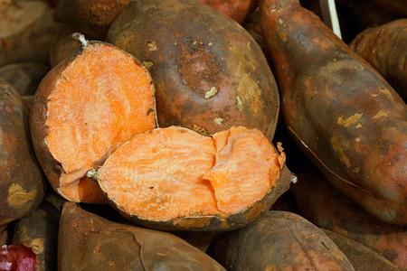 American orange sweet potato, detail Reklamní fotografie