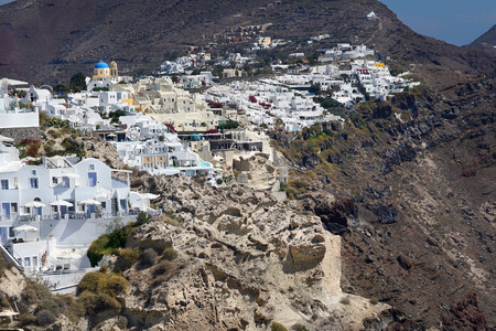 Beautiful view of Oia, in Santorini, Cyclades , Greece