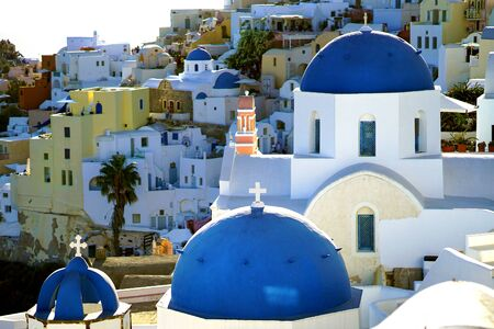 OIA, GREECE, 19 September 2018 Beautiful views of Oia in the Cyclades archipelago