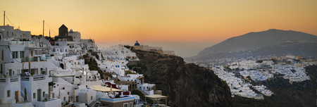 Morning panoramic view of Imerovigli, Santorini, Greece
