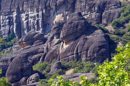 Typical and suggestive rock formations that can be admired in Meteora