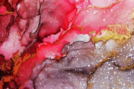 Alcohol ink abstract background, macro photo