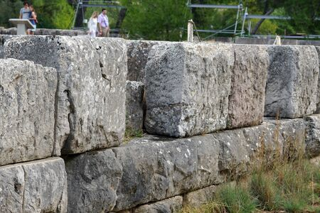 Detail of the outer walls of the archaeological site of Epidaurus, Greece Reklamní fotografie