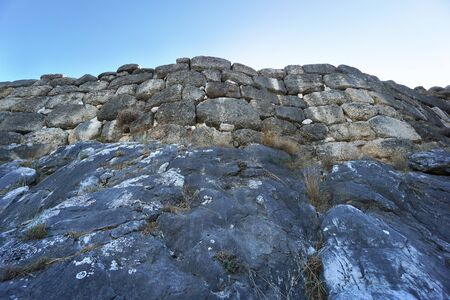 Detail of the walls of Mycenae with its cyclopean walls in Greece