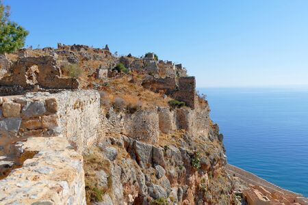 Panoramic view from Monemvasia fortress, South Peloponnese, Greece