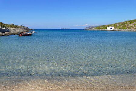 Limnionas beach in the western coast of Kythera in the Aegean sea, Greece